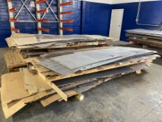 Lot of (2) Stacks of Assorted Sheet Stock Including 301 and 304 Stainless Sheet Stock and Assorted