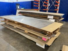 Lot Comprising (2) Stacks of Assorted 7075-0 Bare and Clad Aluminum Sheet Stock