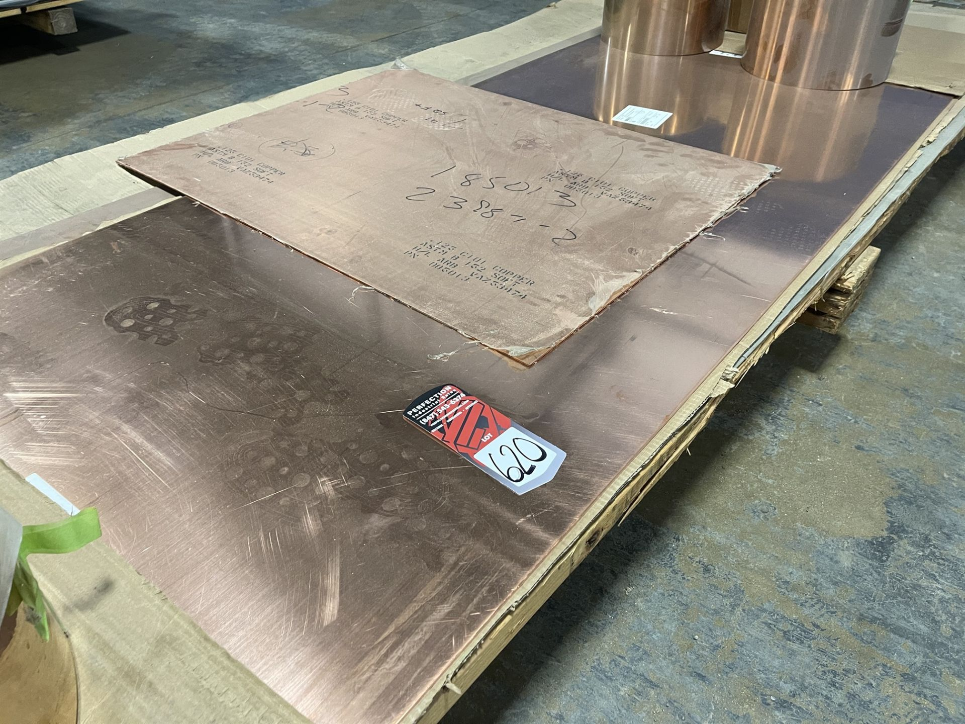 Lot Comprising Assorted Soft Copper Sheet and Copper-Beryllium Strip - Image 3 of 7