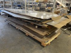 Lot Comprising Stack of Assorted 2024-T3 Aluminum Sheet Stock