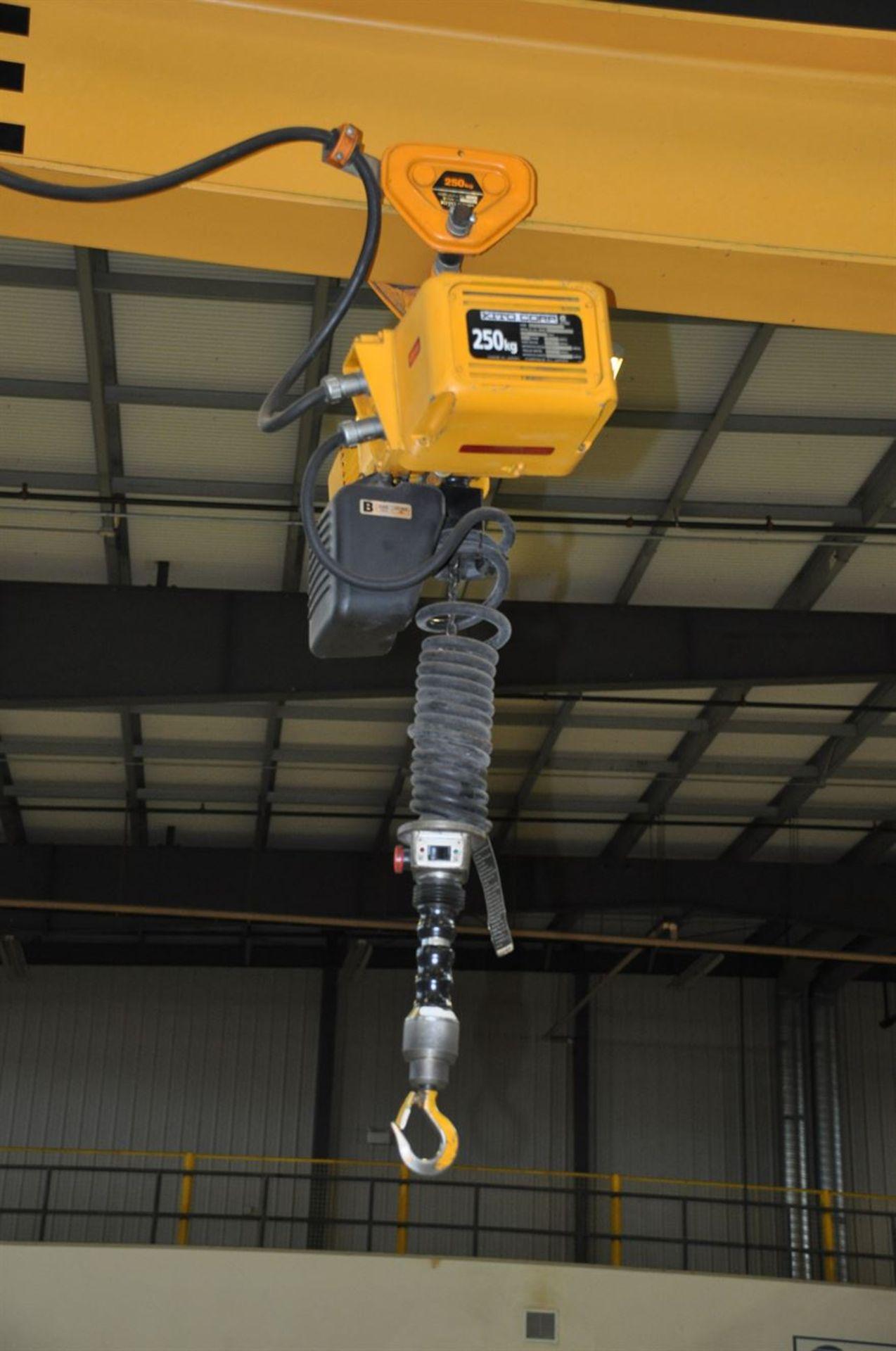 TEKO ¼ Tonne Free Standing Jib Crane, w/ KITO 250 kg Electric Chain Hoist