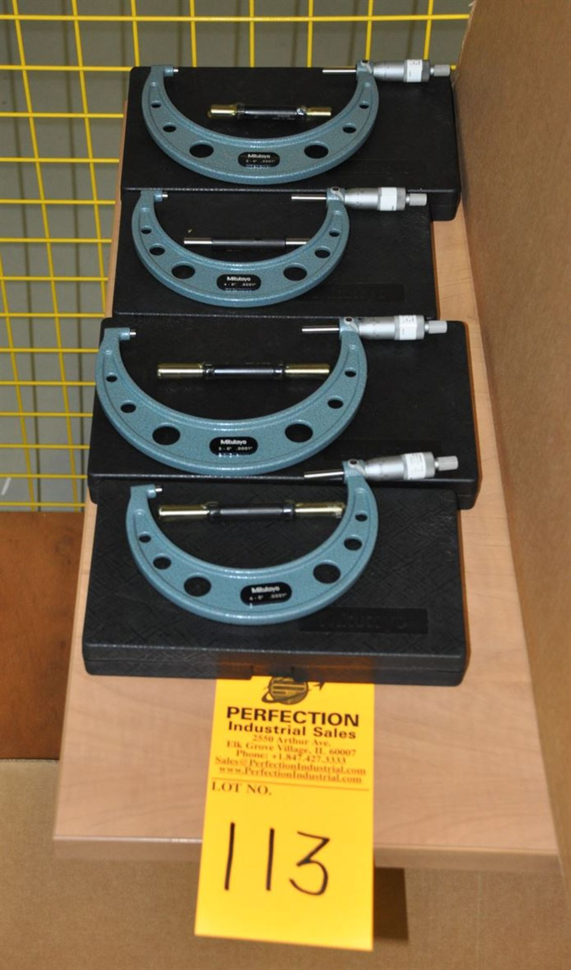 """Mitutoyo OD micrometer, 0.0001"""" res, (2) of 4-5"""", (2) of 5-6"""""""