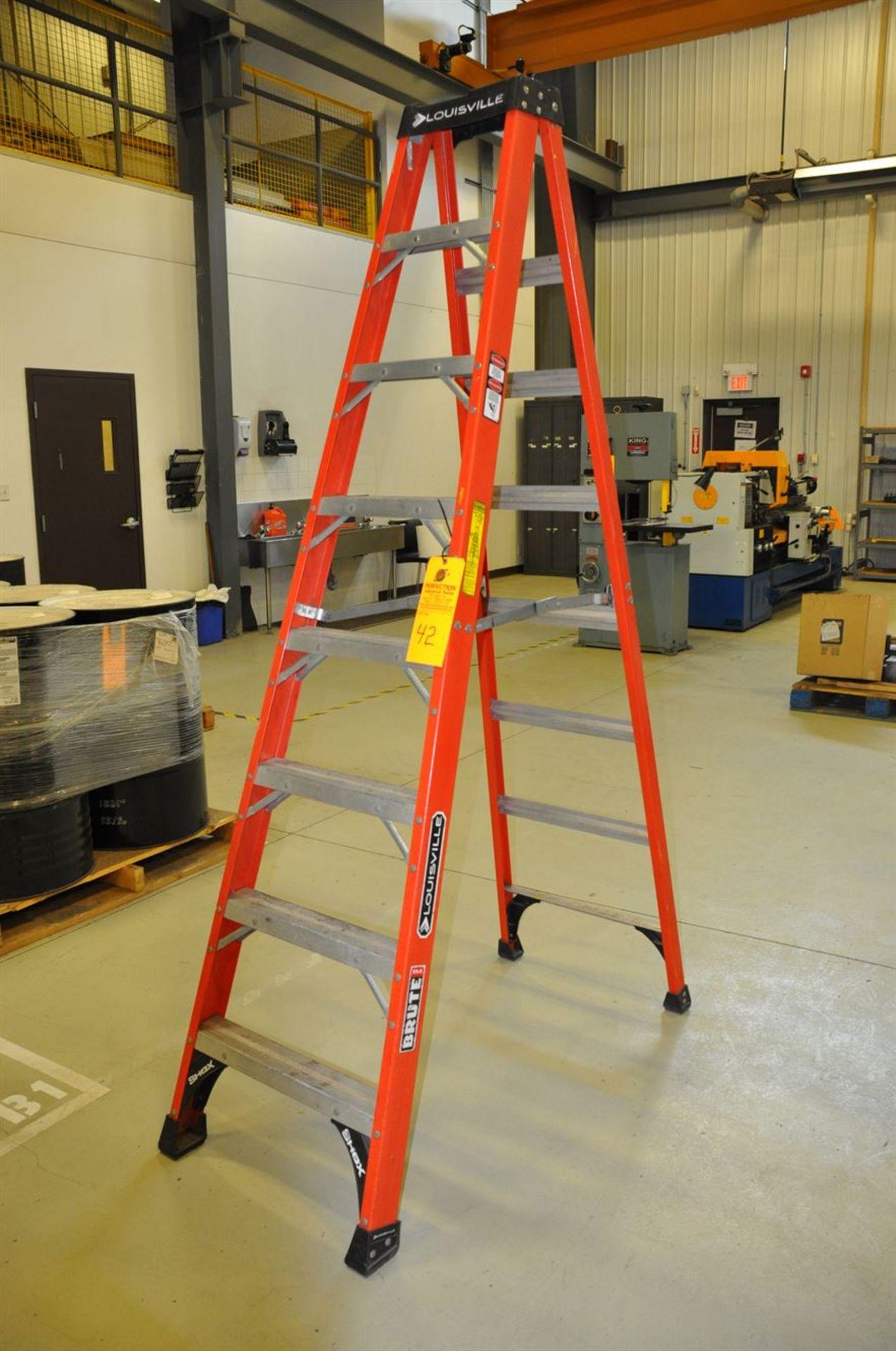 8' Step Ladder, fiber glass, 375 lb