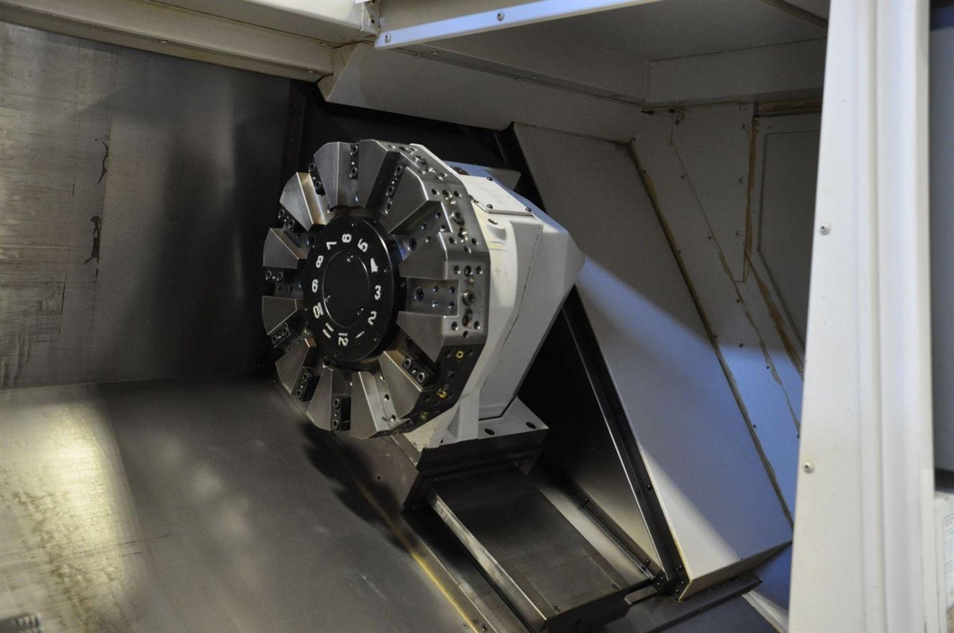 "2012 OKUMA SPACE TURN LB4000 EX CNC Chucker, s/n 161411, w/ OSP-P200LA Control, 3.5"" Bore, SCHUNK - Image 3 of 8"