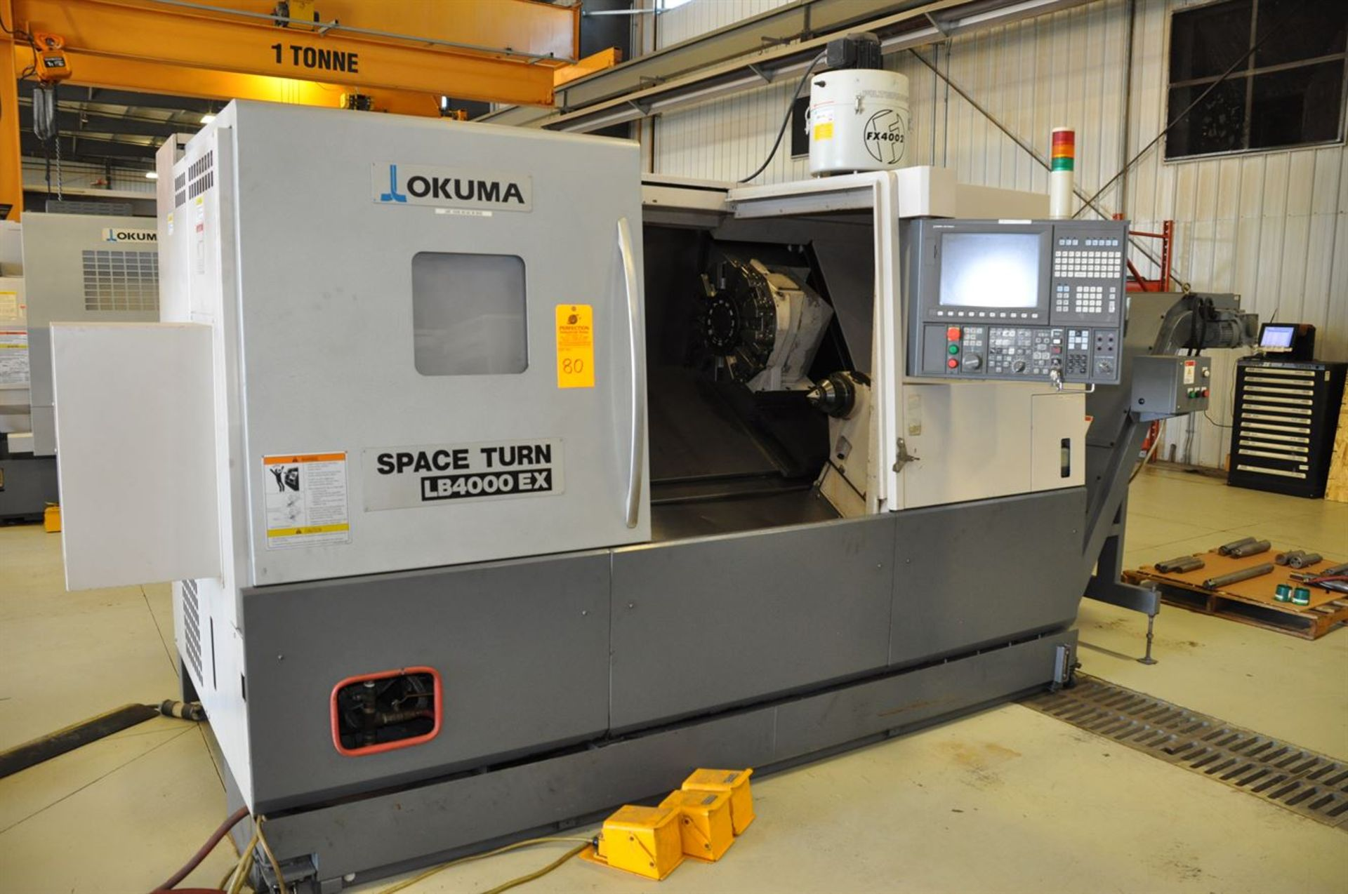 "2012 OKUMA SPACE TURN LB4000 EX Turning Center, s/n 163014, w/ OSP-P200LA Control, 3.5"" Bore, SCHUNK"