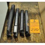 """(4) 1.5"""" and 1.75"""" Sandvik and Kennametal Steel boring bars"""