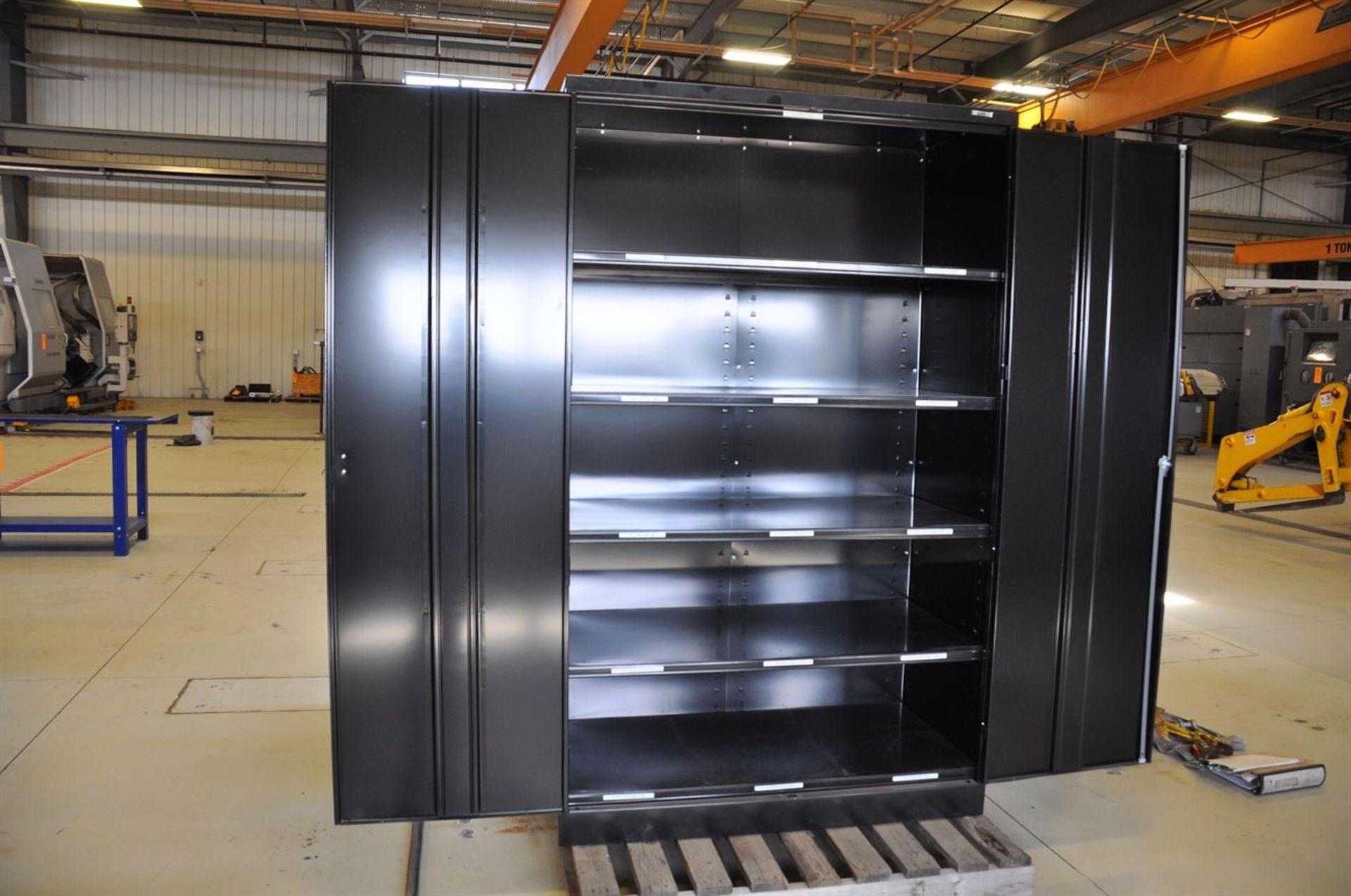 "Industrial Steel Storage Cabinet 48""x78""x24"", w/ keys - Image 2 of 2"