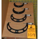 """Starrett Blade Micrometers, 0.001 res, 3-4"""", 4-5"""" 5-6"""", 7-8"""" OD"""