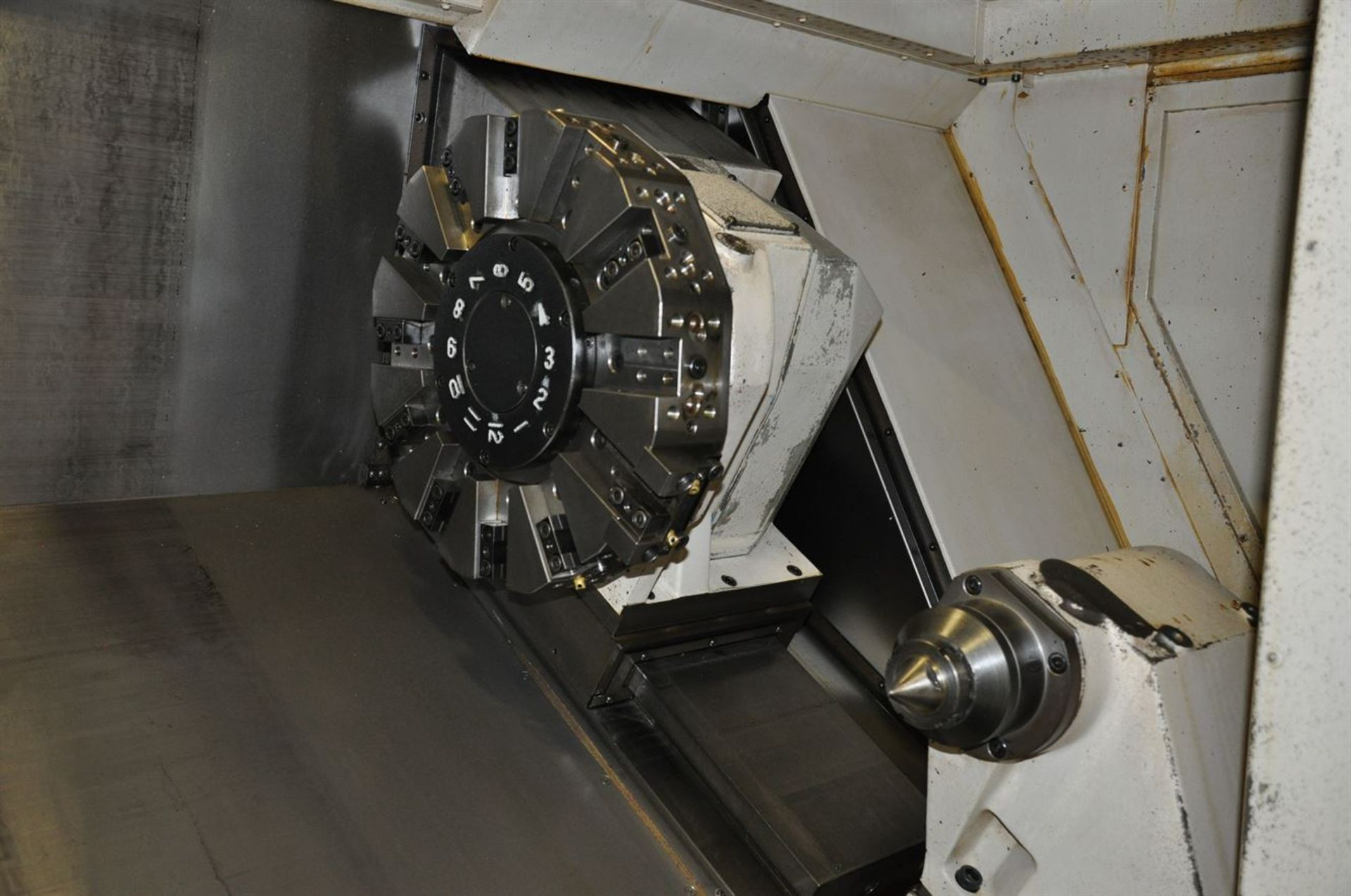 "2012 OKUMA SPACE TURN LB4000 EX Turning Center, s/n 163014, w/ OSP-P200LA Control, 3.5"" Bore, SCHUNK - Image 3 of 8"