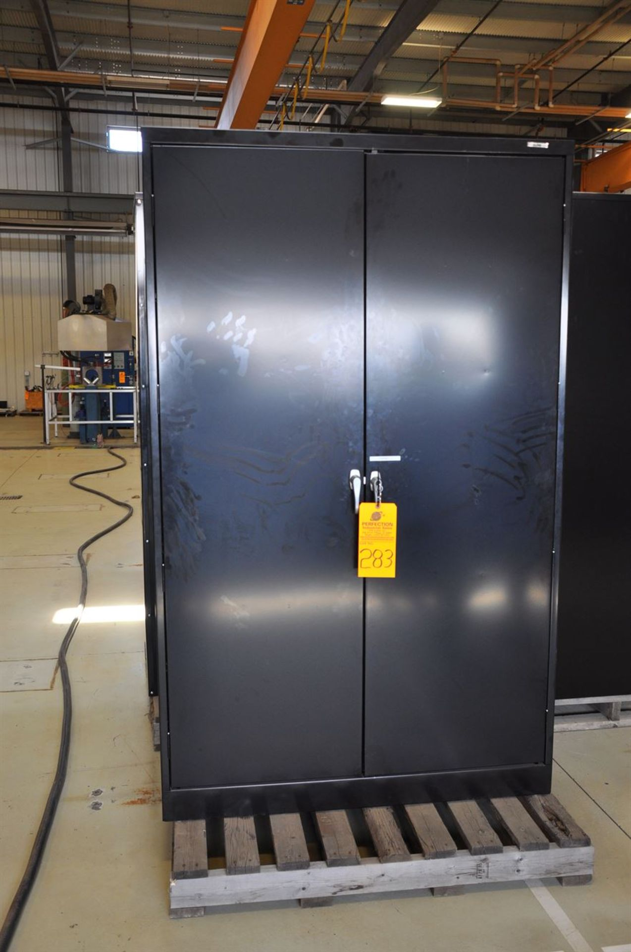 "Industrial Steel Storage Cabinet 48""x78""x24"", w/ keys"