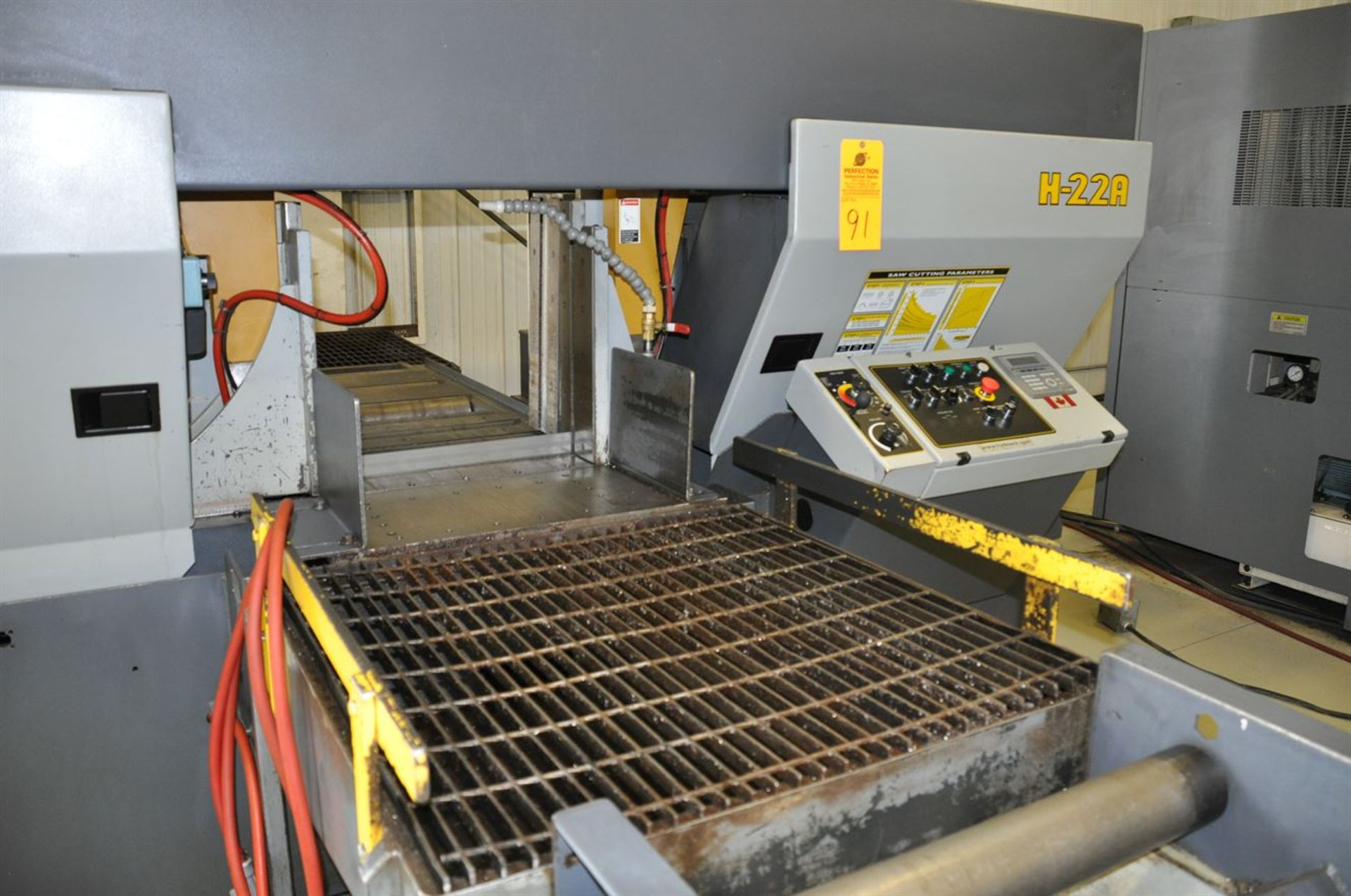 """2012 HYD-MECH H-22A Automatic Horizontal Bandsaw, s/n C0312364S, w/ 22""""x 22"""" Cap., 10 hp, Auto - Image 2 of 4"""