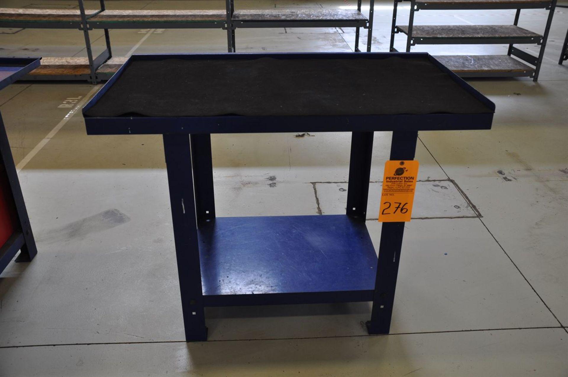 """Metal Bench, 26""""x45"""" w/ shelf"""