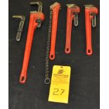 """(4) Ridgid/Proto Pipe and Chain wrenches (24"""" and 18"""""""")"""