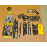 Assorted Drills and Manual Mill Tools