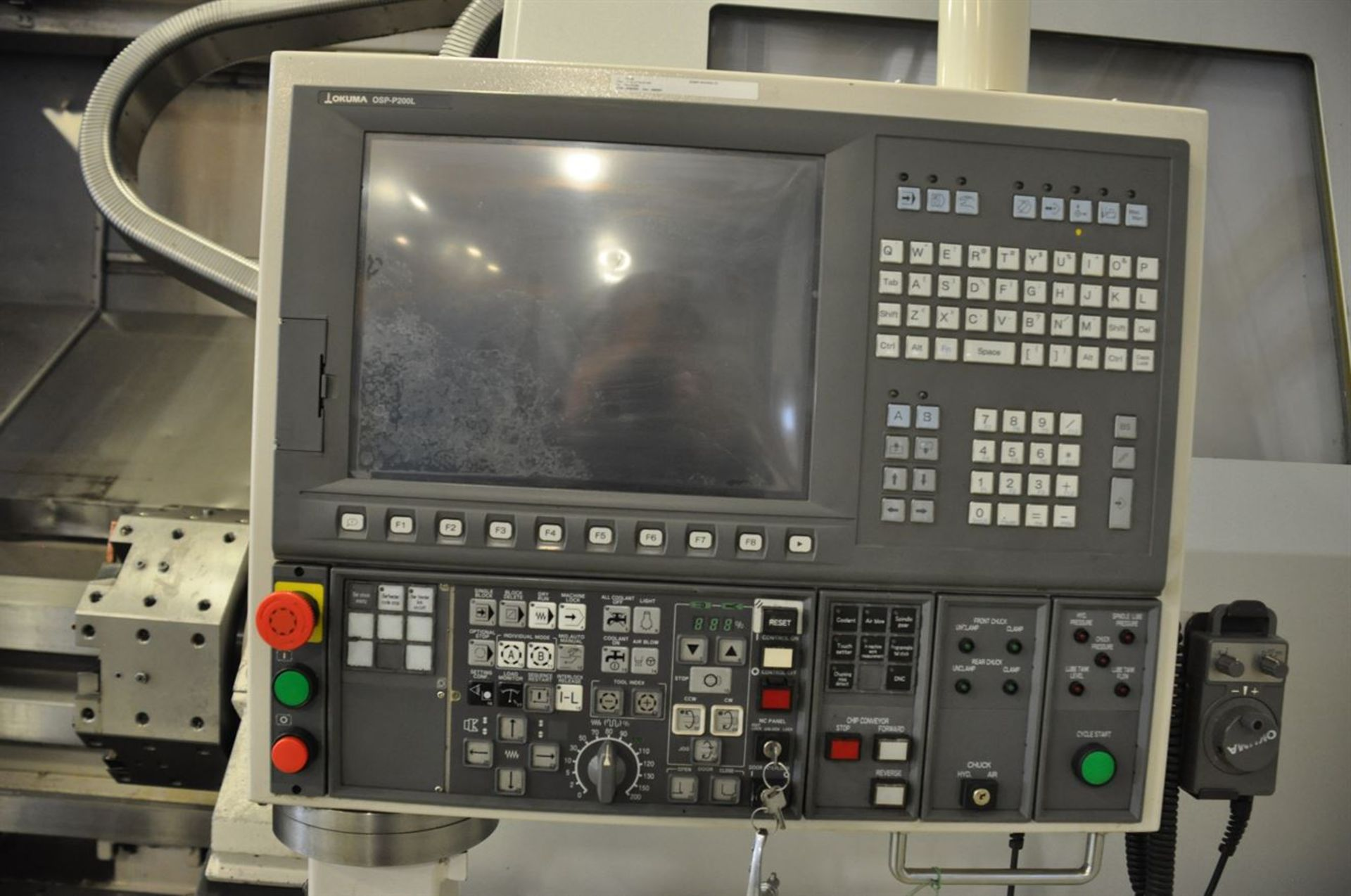 "2011 OKUMA SIMULTURN LOC 650 4 Axis Turning Center, s/n 153028, w/ OSP-P200L Control, 14.74"" Bore, - Image 7 of 11"