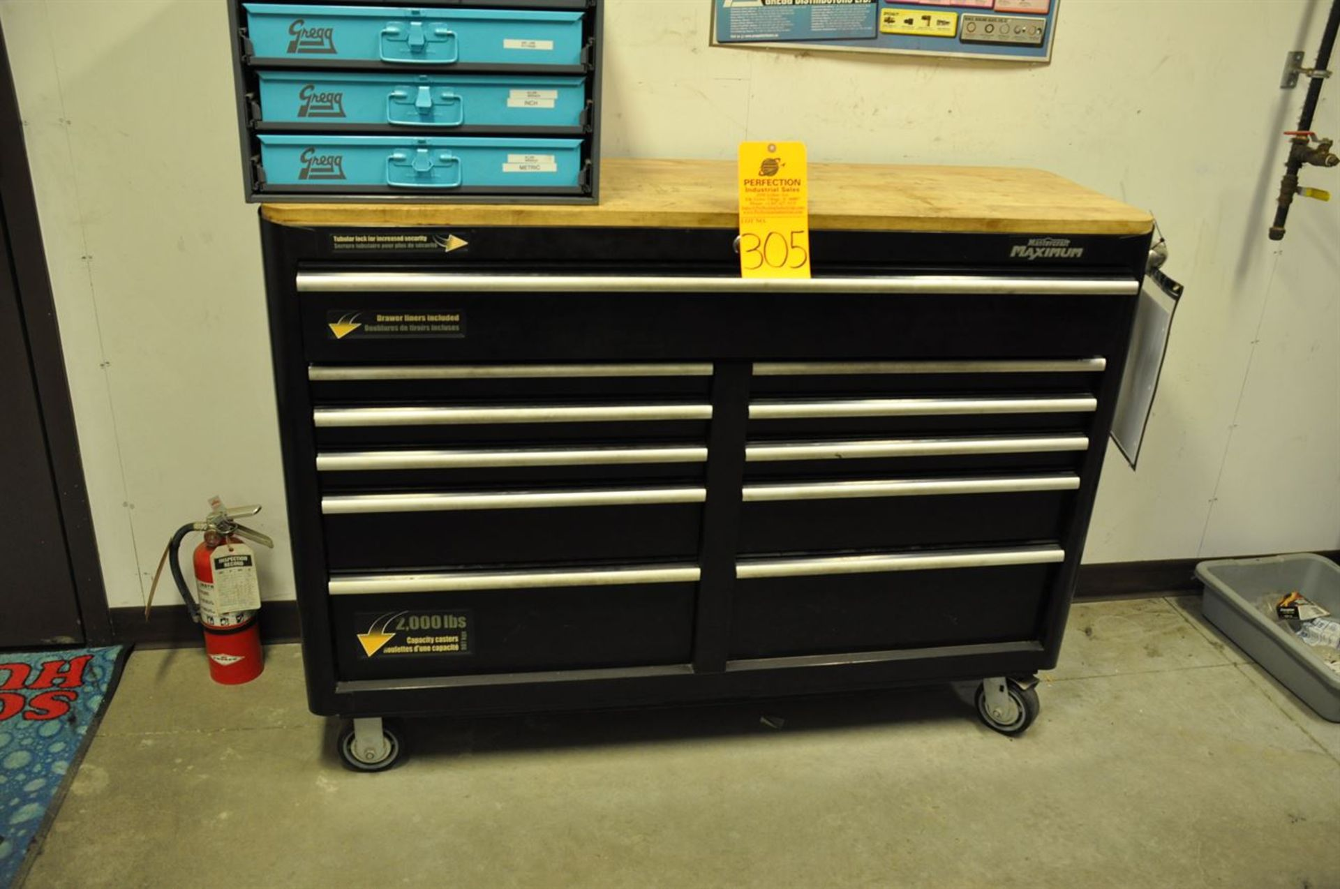 "Rolling Tool Chest, 11 drawer, 56"" length,"