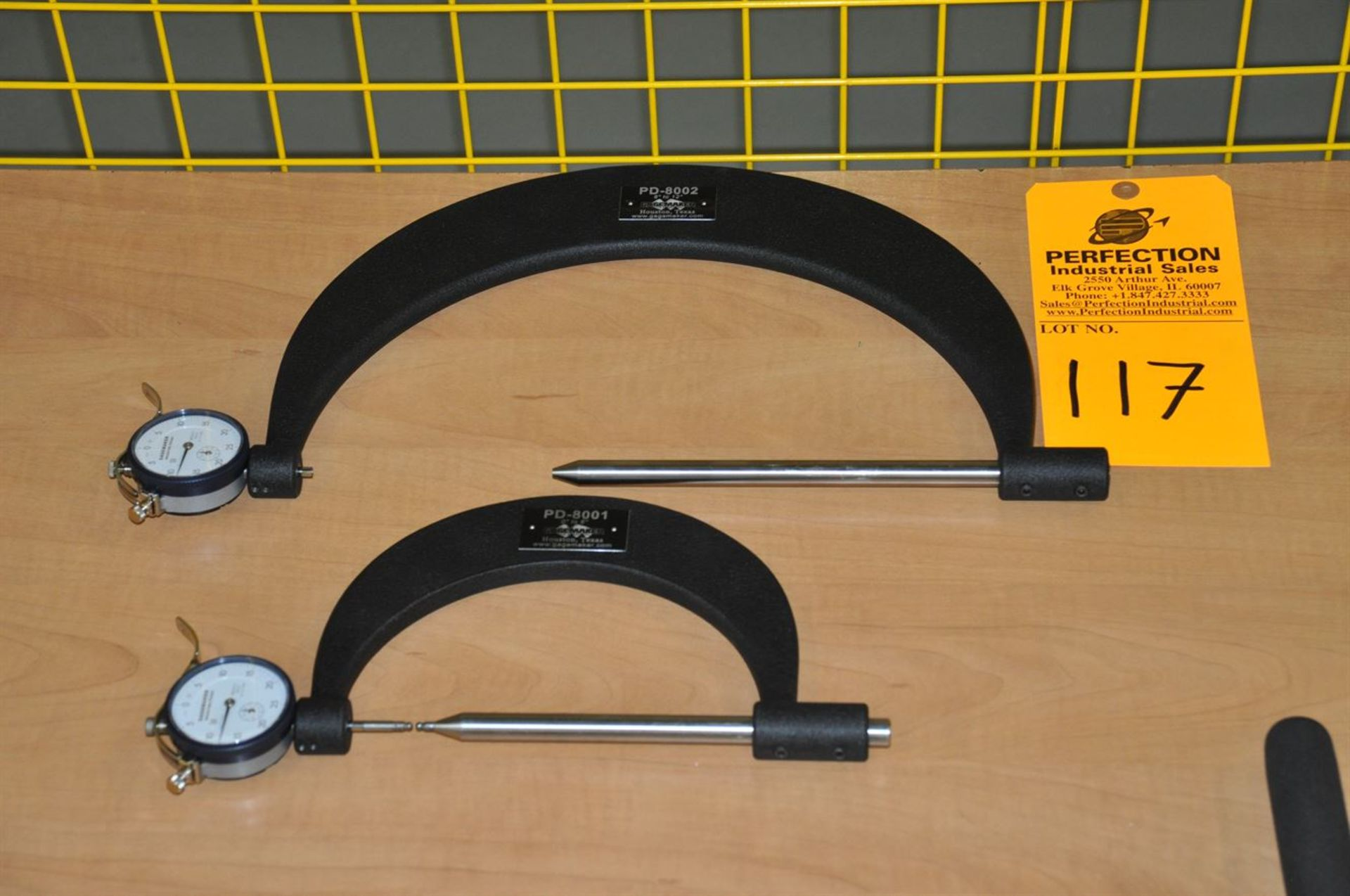GageMaker Pitch Diameter Gage 0.0005 res, (1) of PD-8001, (1) of PD-8002