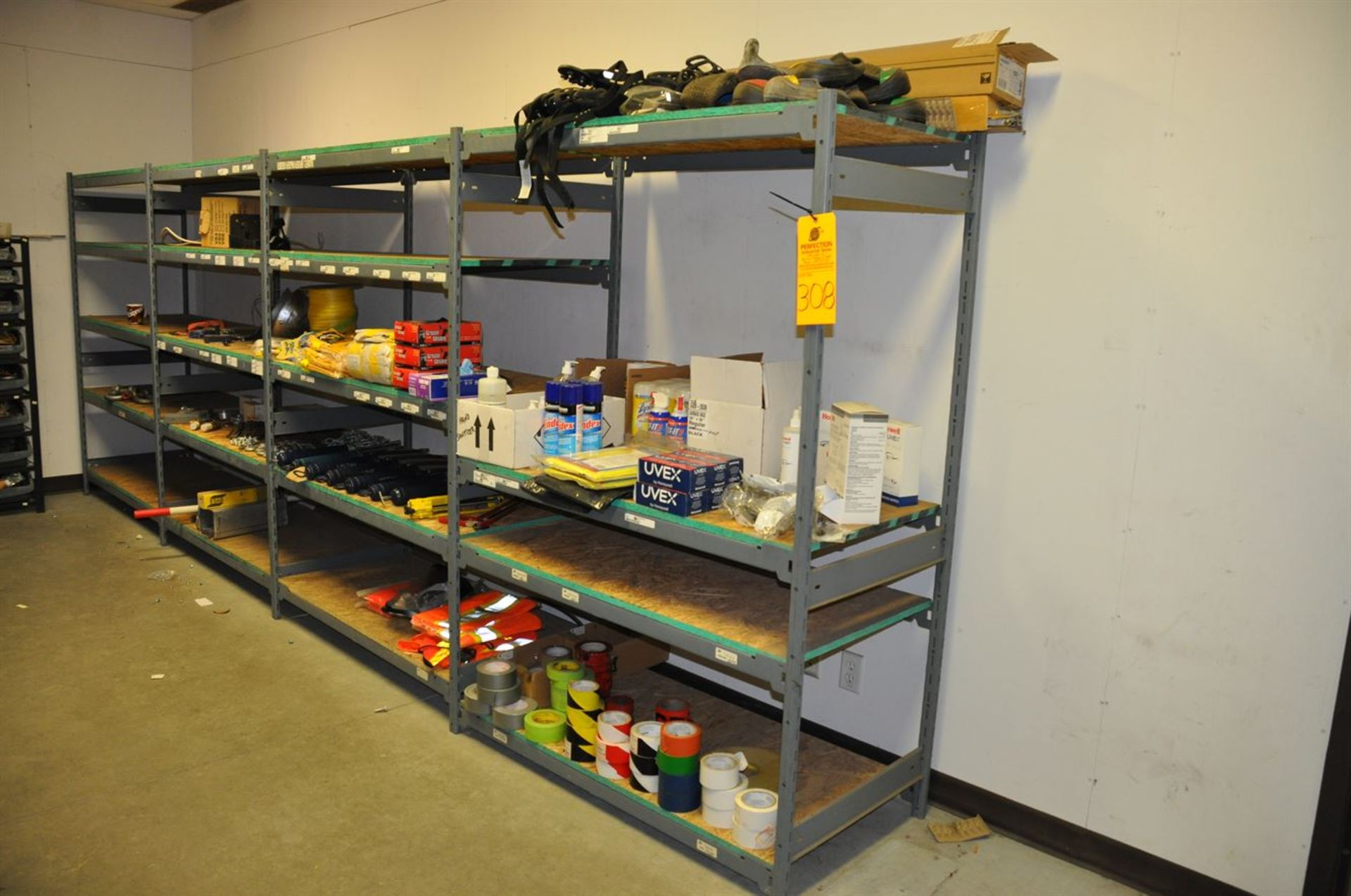 Storage shelving, 3 section