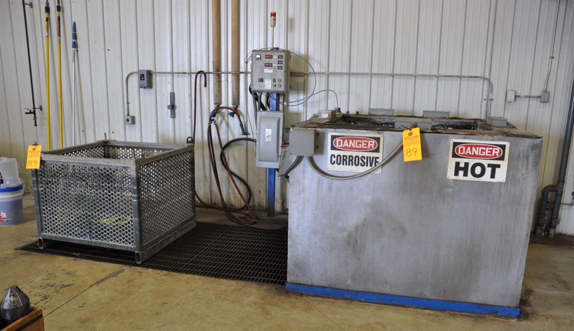 """2015 CUSTOM Stainless Steel Jacketed Tank Phosphatizing System, w/ (1) 48"""" Cube Stainless Steel"""