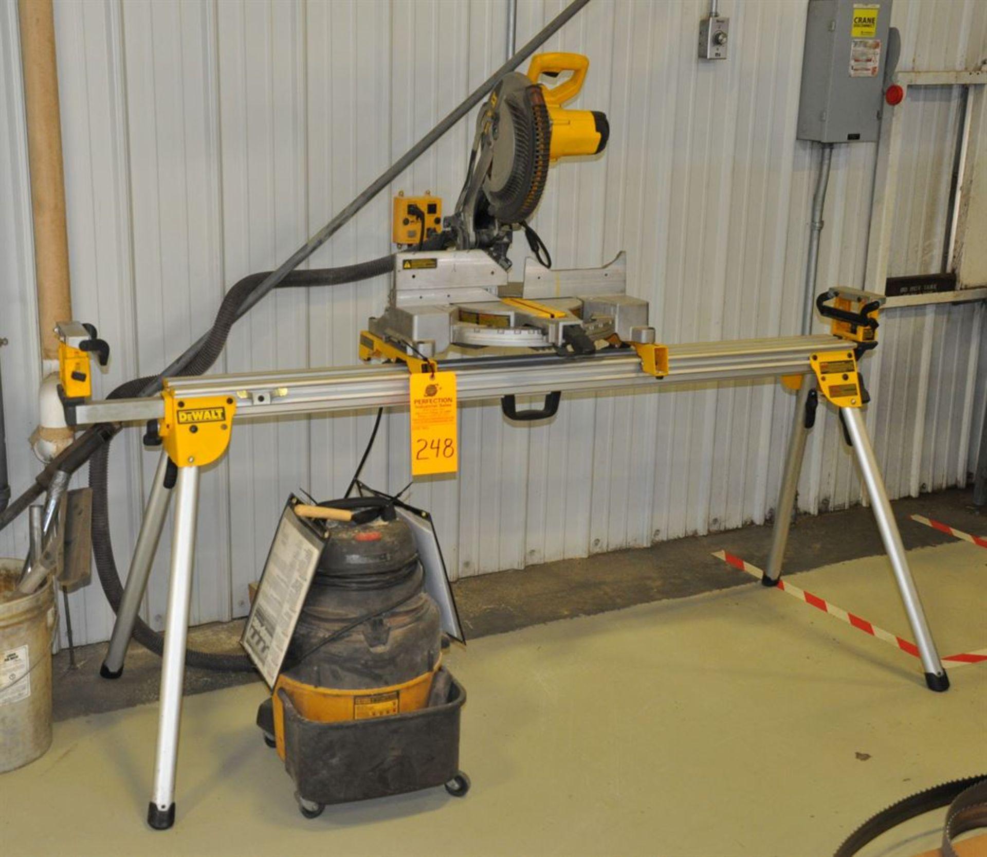 DeWalt Mitre Saw w/ stand and Vacuum