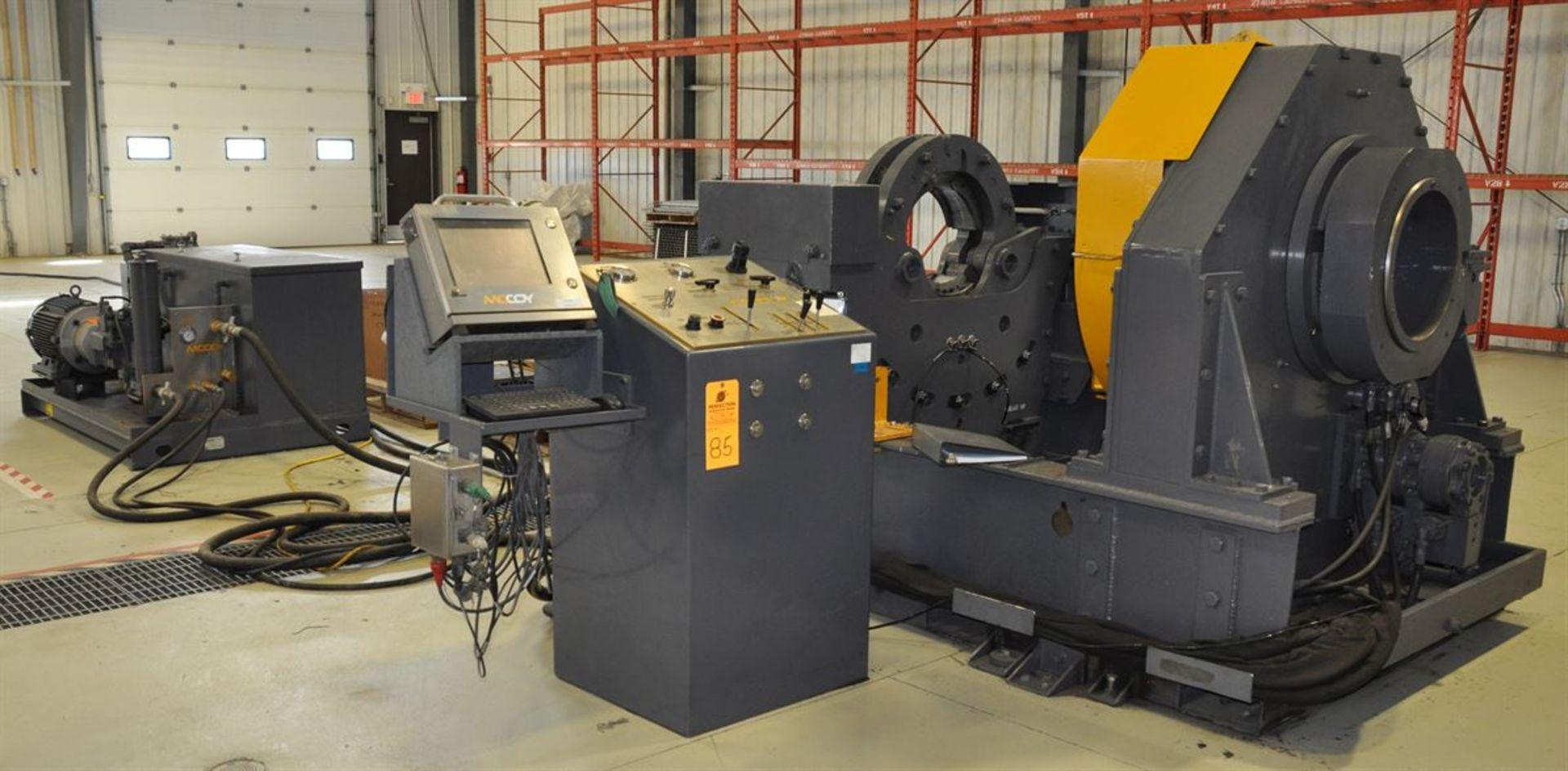 "2012 McCOY CLEBU 1500 15"" Type III Bucking Unit, s/n 8988, w/ PLC Control, Size Range: 15"" – 2."