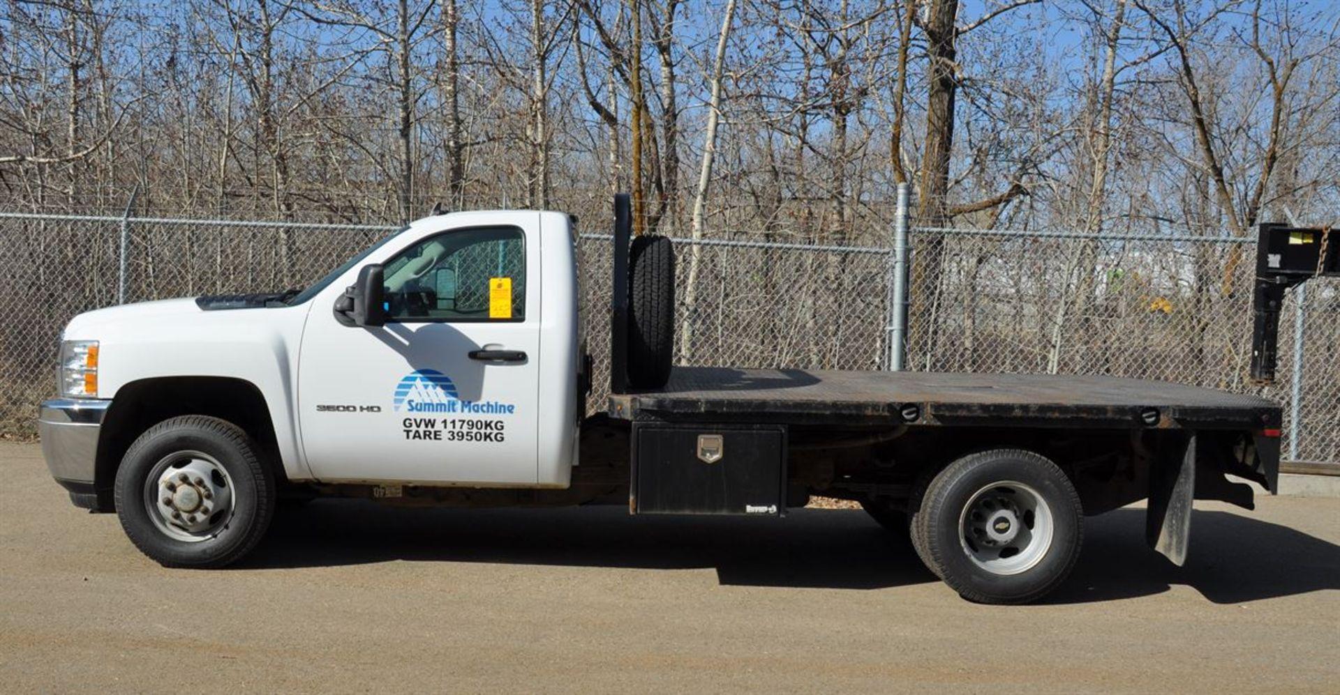 2012 CHEVROLET SILVERADO 3500 HD Flat Deck Dually Truck, VIN 1GB3KZCGXCF155813, w/ VORTEX Engine,