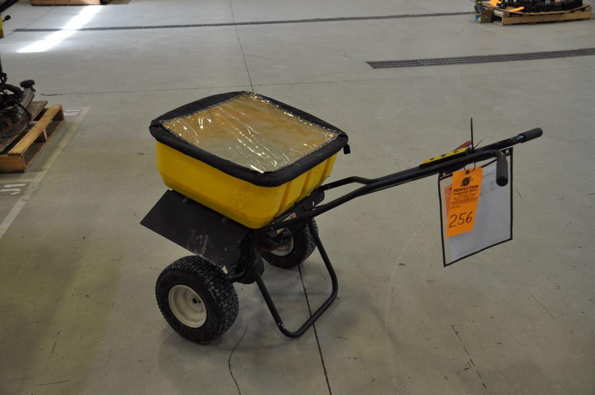 SnowEx Salt Spreader, 160 lb capacity w/ 4 bags ice melter