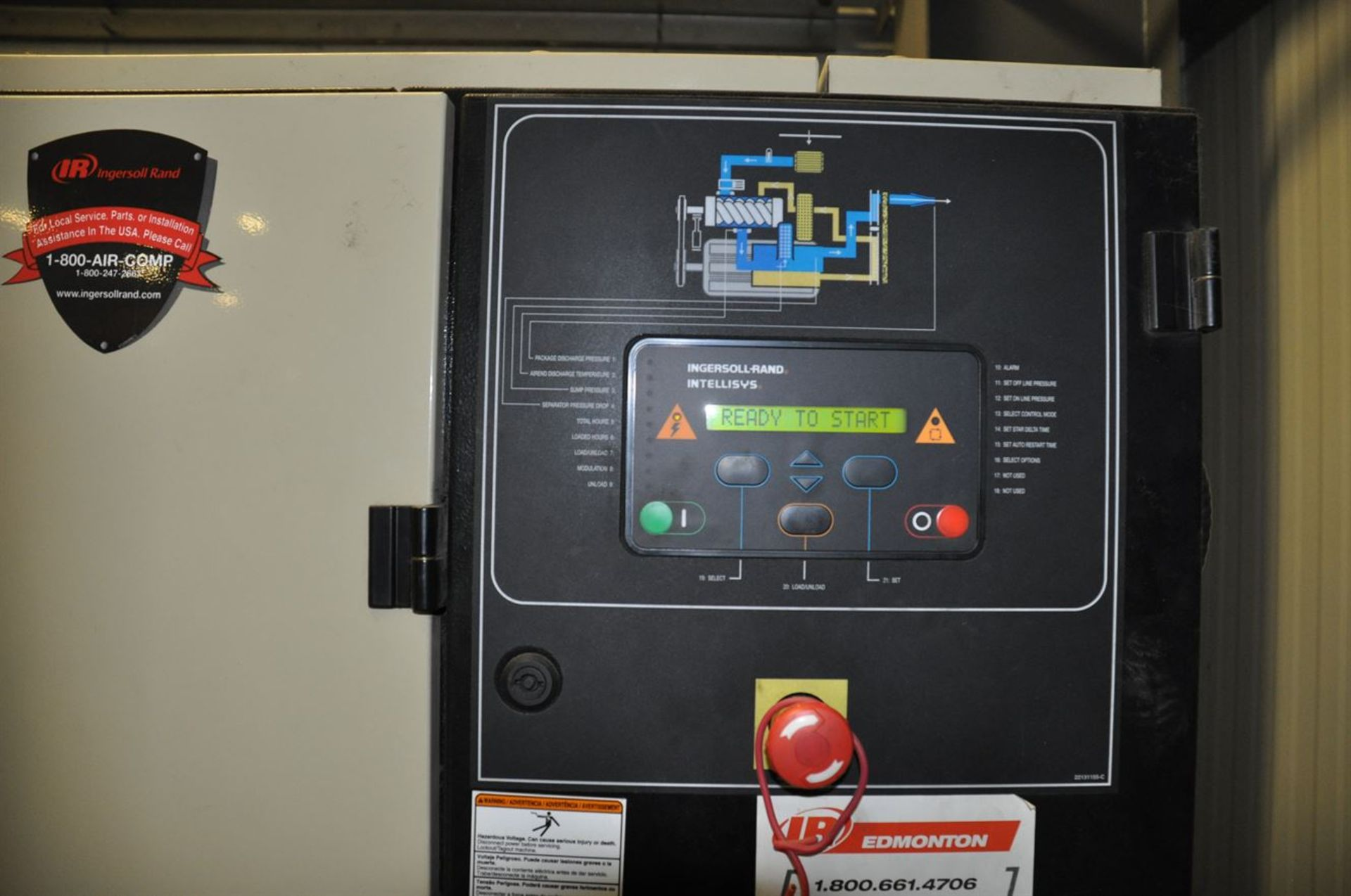 2012 INGERSOLL RAND UP6-30-150 30 hp Air Compressor System, s/n CBV185766, w/ Built-In Air Dryer, - Image 2 of 2