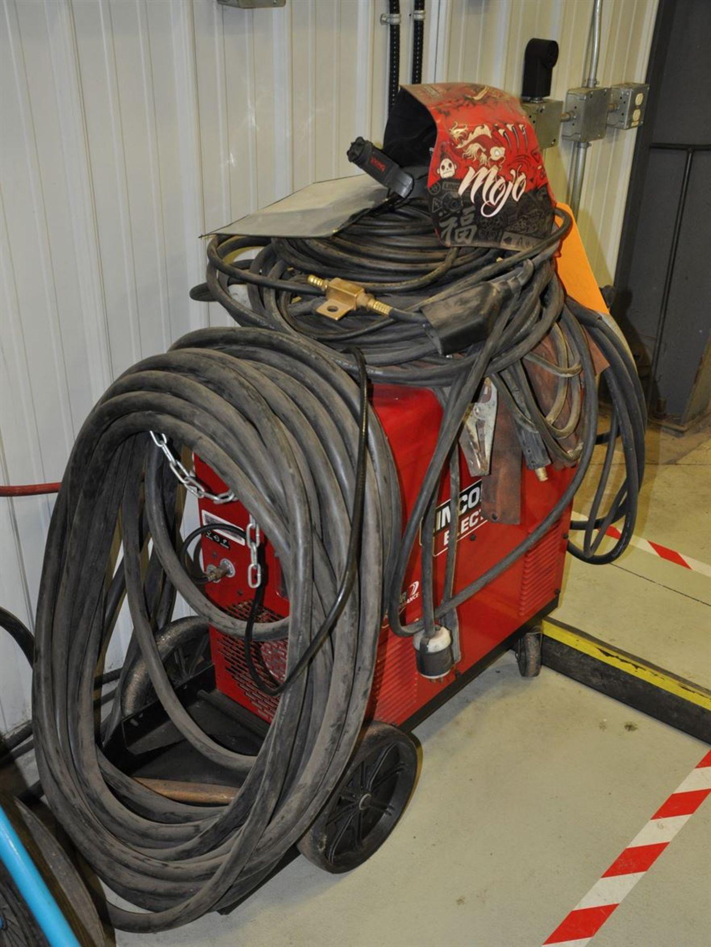 LINCOLN POWER MIG 350MP MIG Welder w/ TIG welding kit and autoshade helmet. - Image 2 of 2