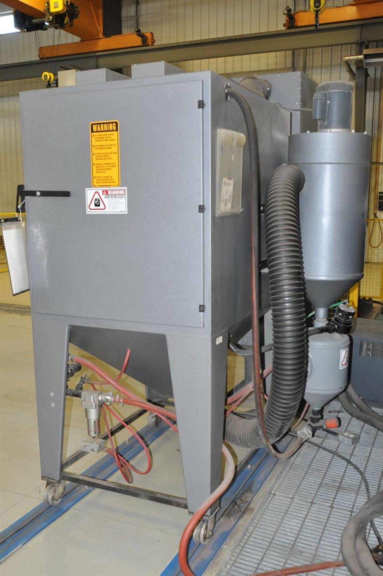 2012 MOD-U-BLAST P4836-6FM Shot Blast Cabinet, s/n 30595, w/ Dust Collector - Image 2 of 2
