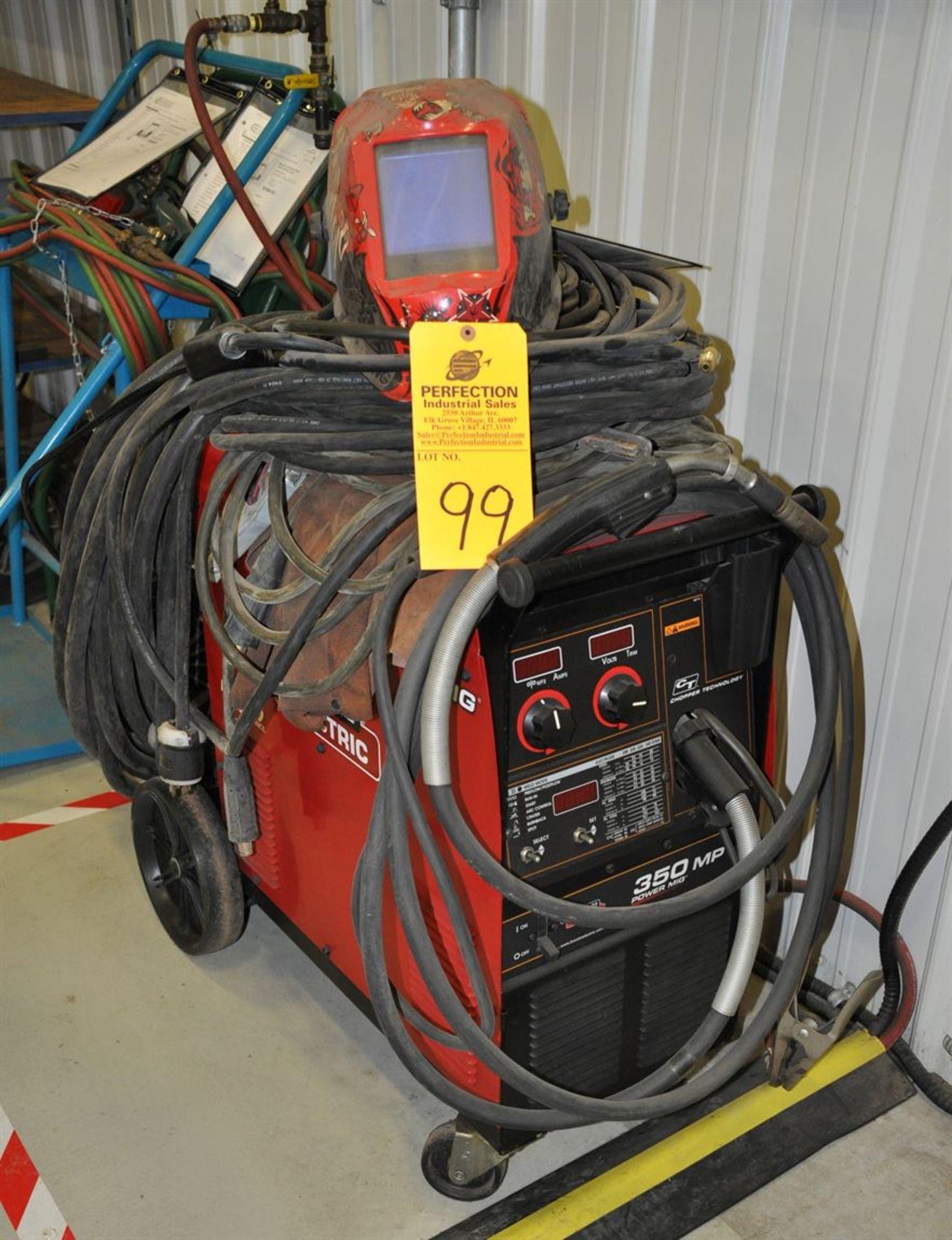 LINCOLN POWER MIG 350MP MIG Welder w/ TIG welding kit and autoshade helmet.