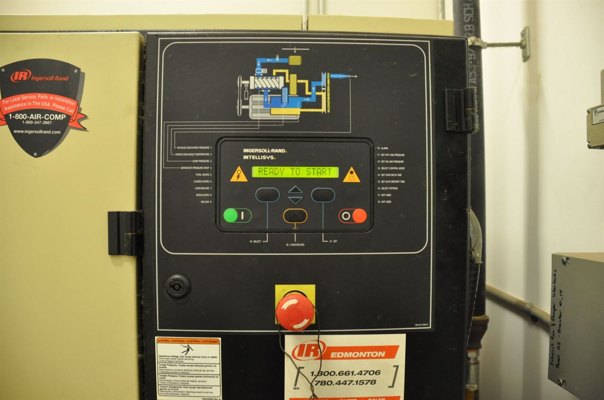 2012 INGERSOLL RAND UP6-30-150 30 hp Air Compressor System, s/n CBV185765, w/ Built-In Air Dryer, - Image 2 of 2