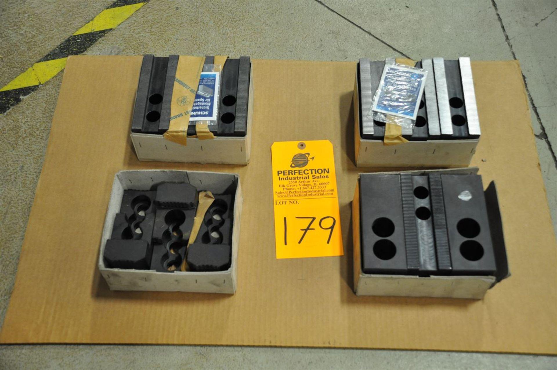 Schunk SWB 400 soft jaws, 3 sets new, and SHB 400 1 set new