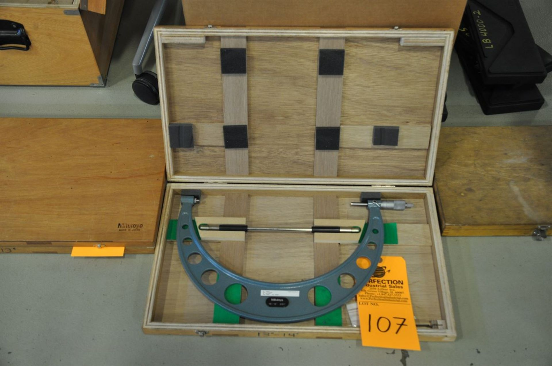 "Mitutoyo 13-14"", 0.001"" res, OD micrometer set"