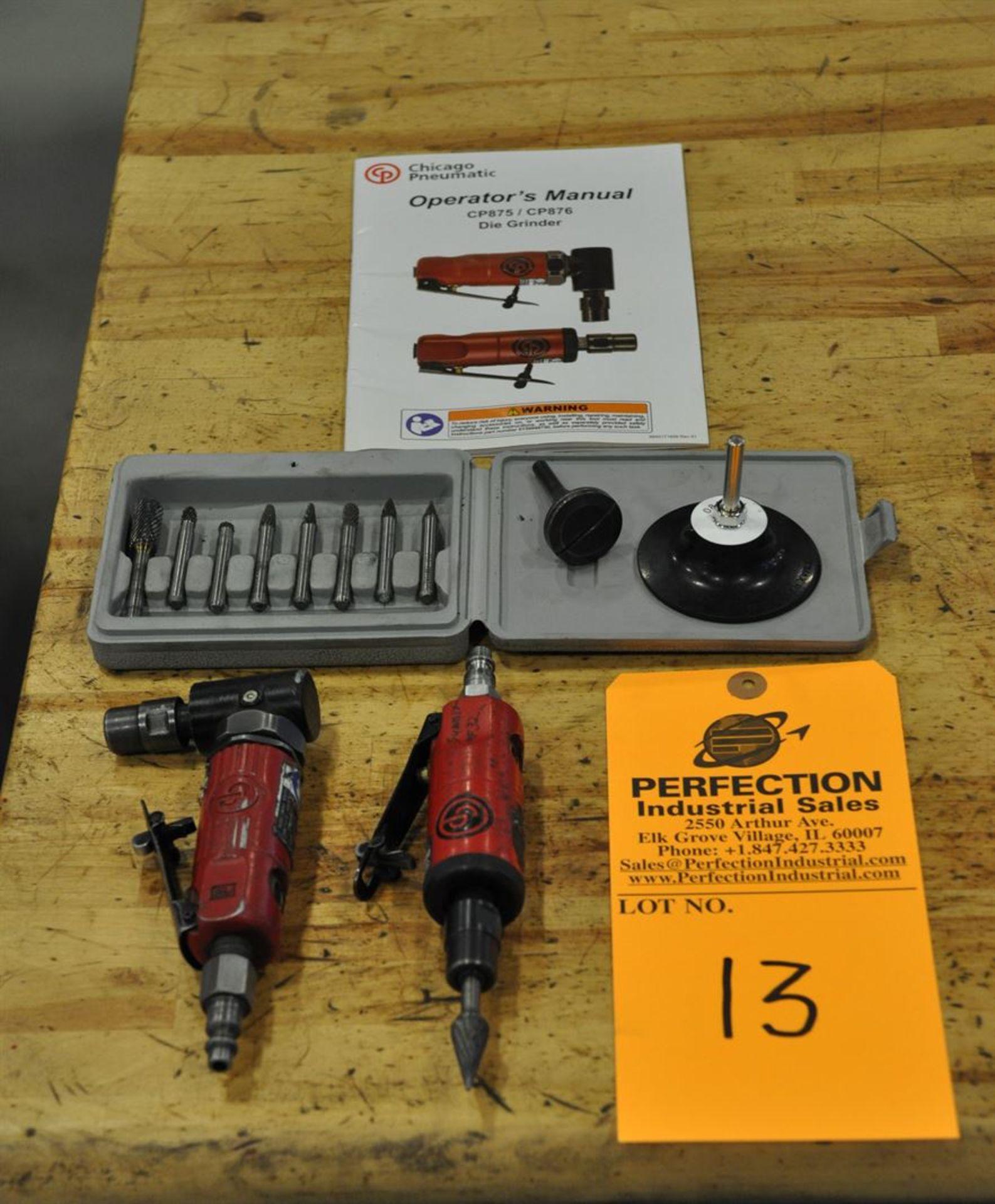 Chicago Pneumatic CP Mini Die Grinder Set, w/ carbide burr set
