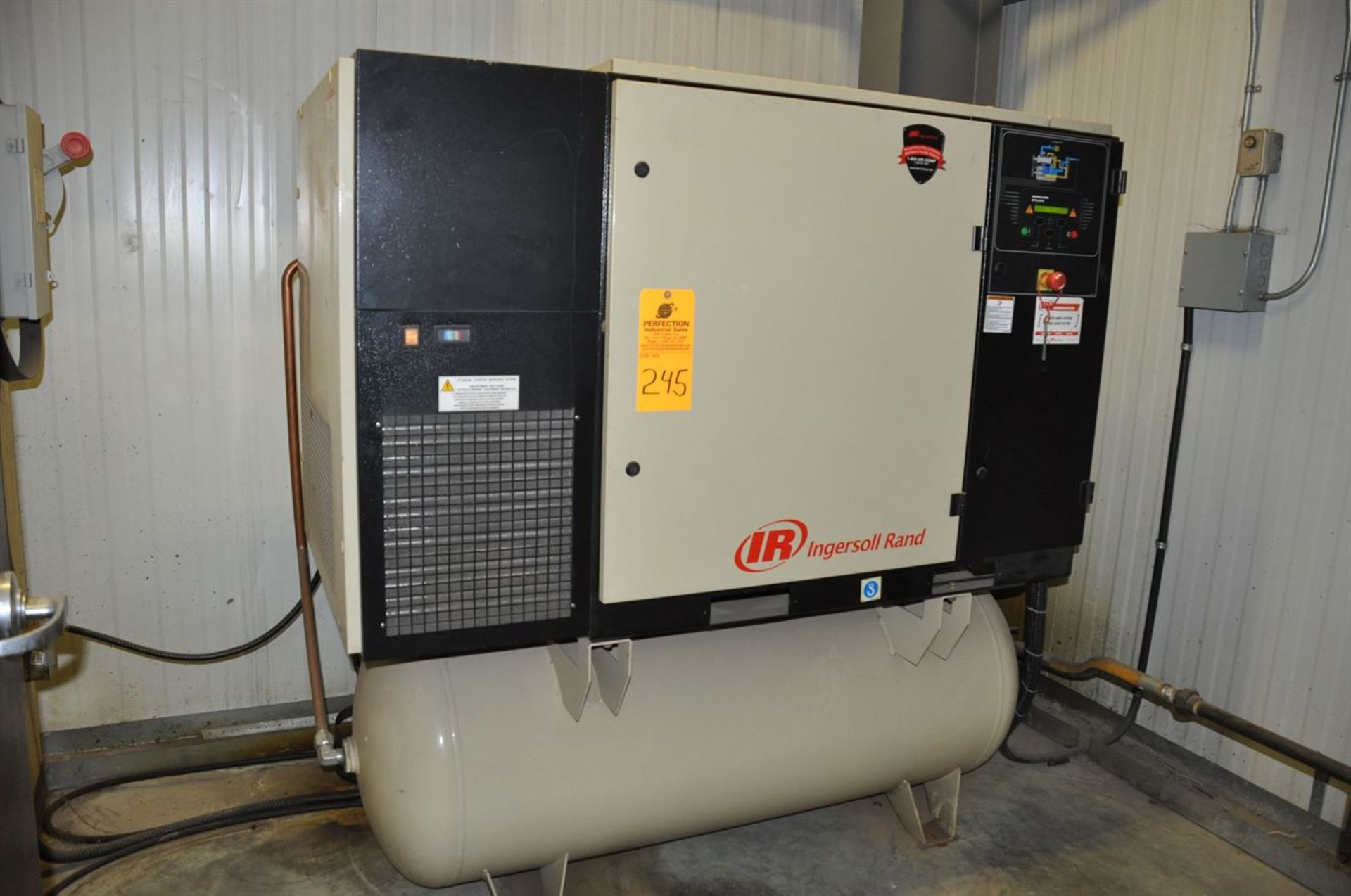 2012 INGERSOLL RAND UP6-30-150 30 hp Air Compressor System, s/n CBV185766, w/ Built-In Air Dryer,