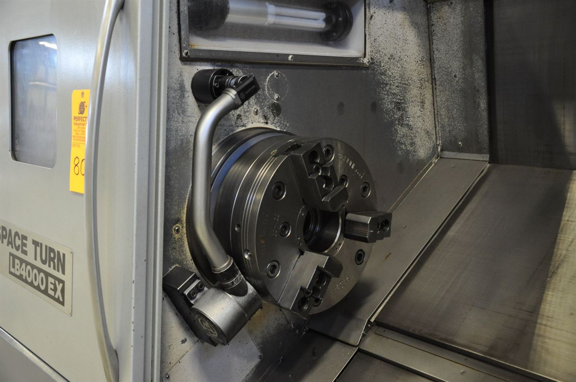 "2012 OKUMA SPACE TURN LB4000 EX Turning Center, s/n 163014, w/ OSP-P200LA Control, 3.5"" Bore, SCHUNK - Image 4 of 8"