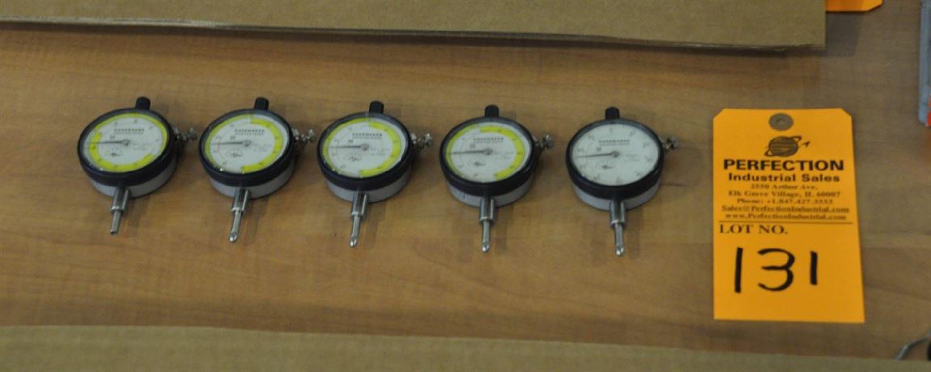 """(5) GageMaker 0.0001"""" x 0.500"""" dial indicators"""