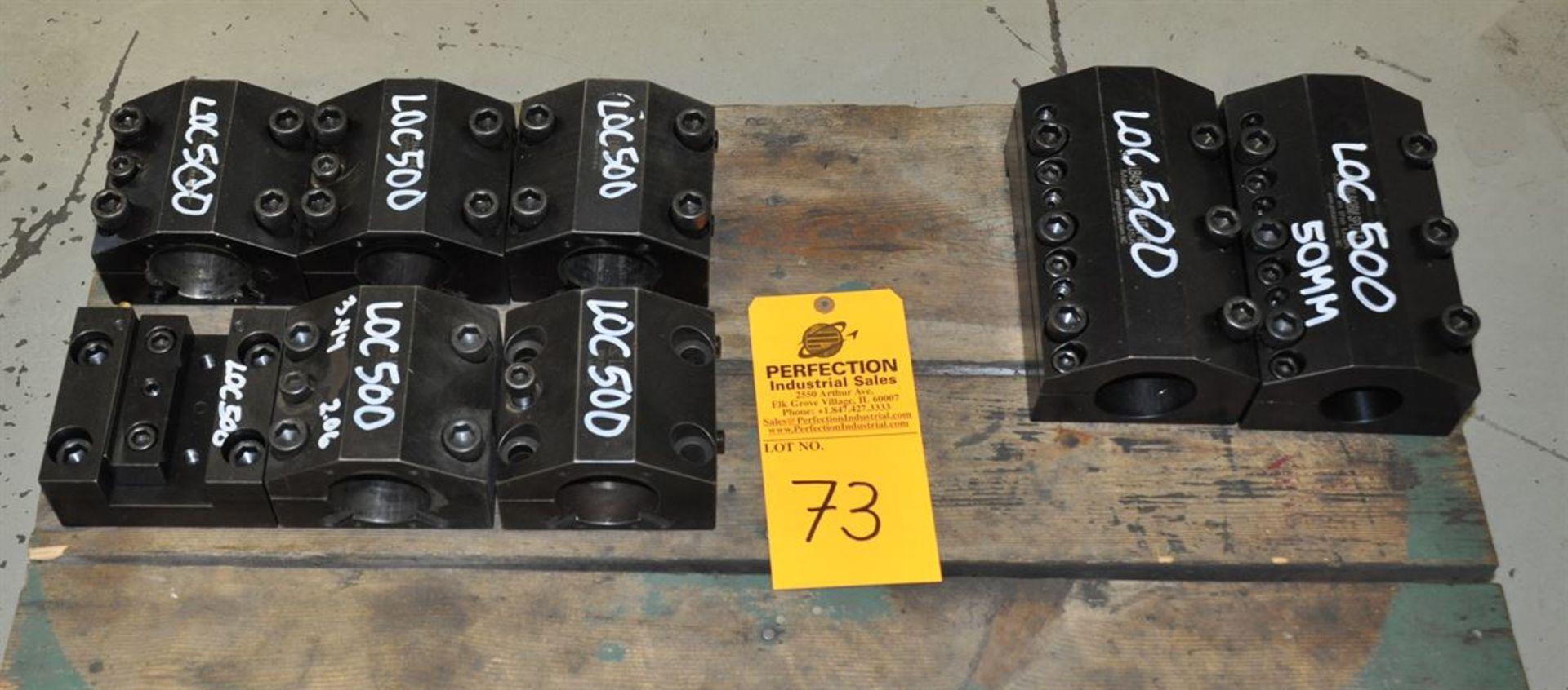 "LOC 500 2.5"" boring bar holders, (2) 50mm boring bar holder & (6) 1.25"" face plunge stick tool"