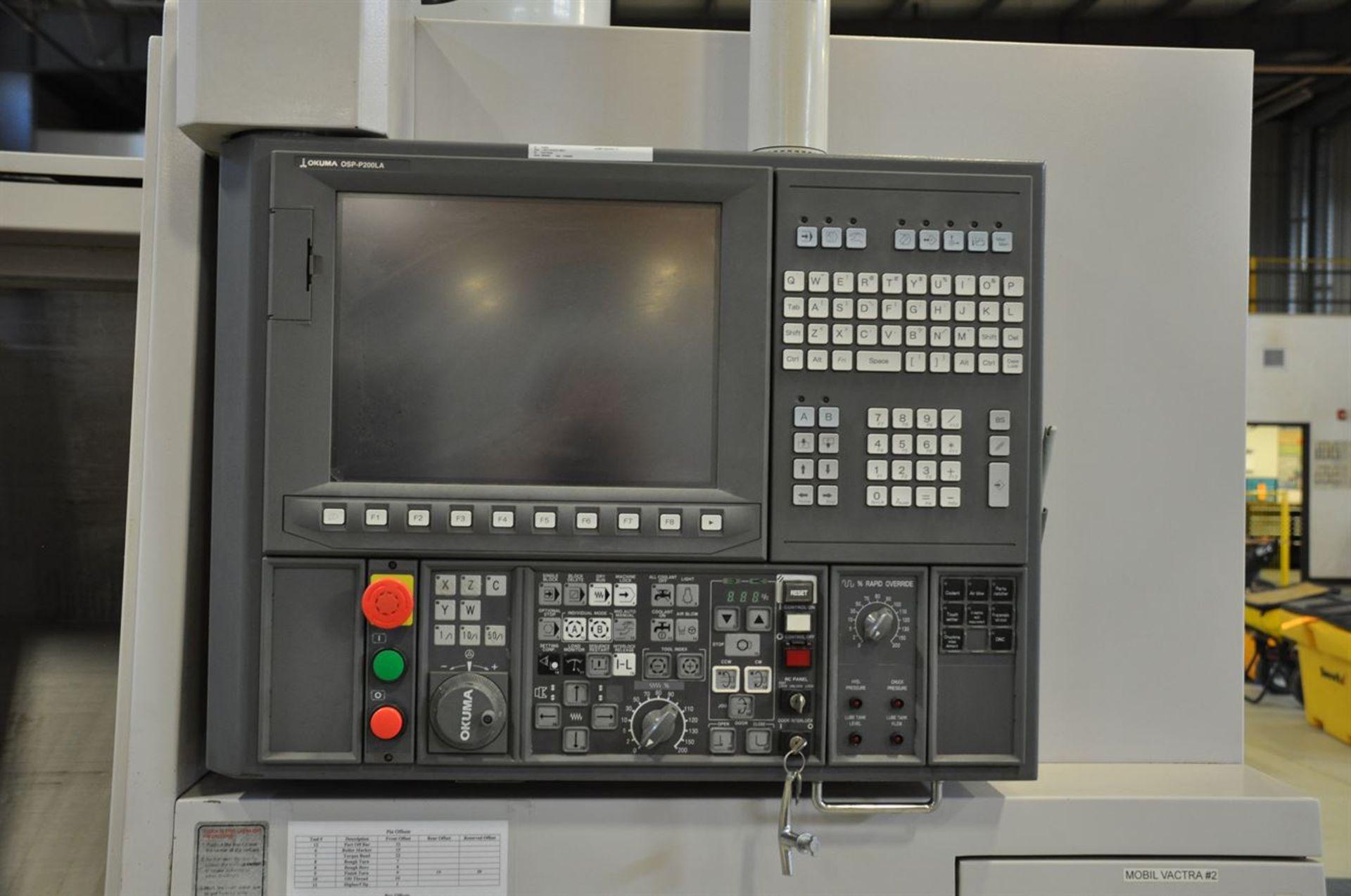 "2012 OKUMA SPACE TURN LB4000 EX CNC Chucker, s/n 161411, w/ OSP-P200LA Control, 3.5"" Bore, SCHUNK - Image 5 of 8"