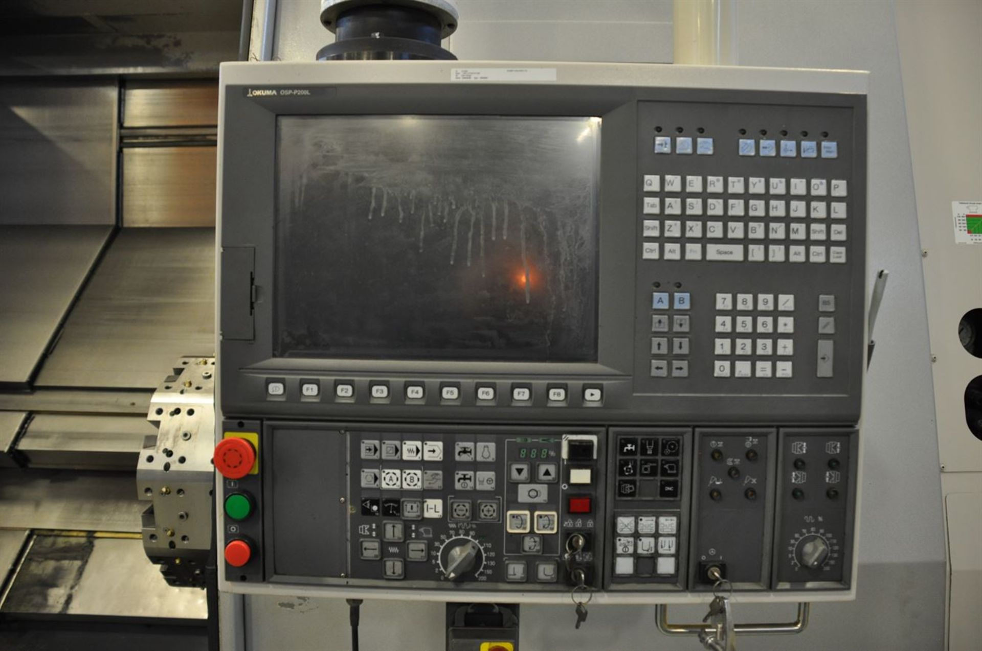 "2011 OKUMA SIMULTURN LOC 500 4 Axis Turning Center, s/n 156470, w/ OSP-P200L Control, 10.83"" Bore, - Image 6 of 10"