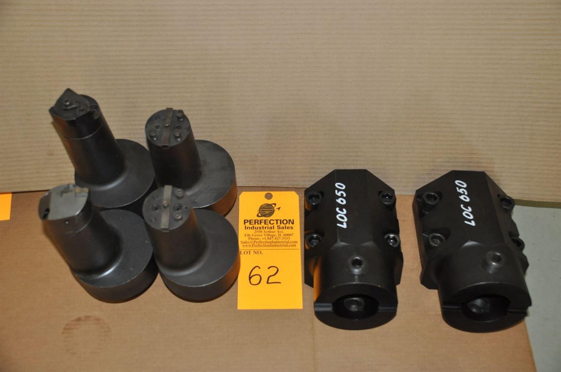 "(2) LOC 650 High Tech tool holders (4) off-set boring bars, fits 2.5"" heads"