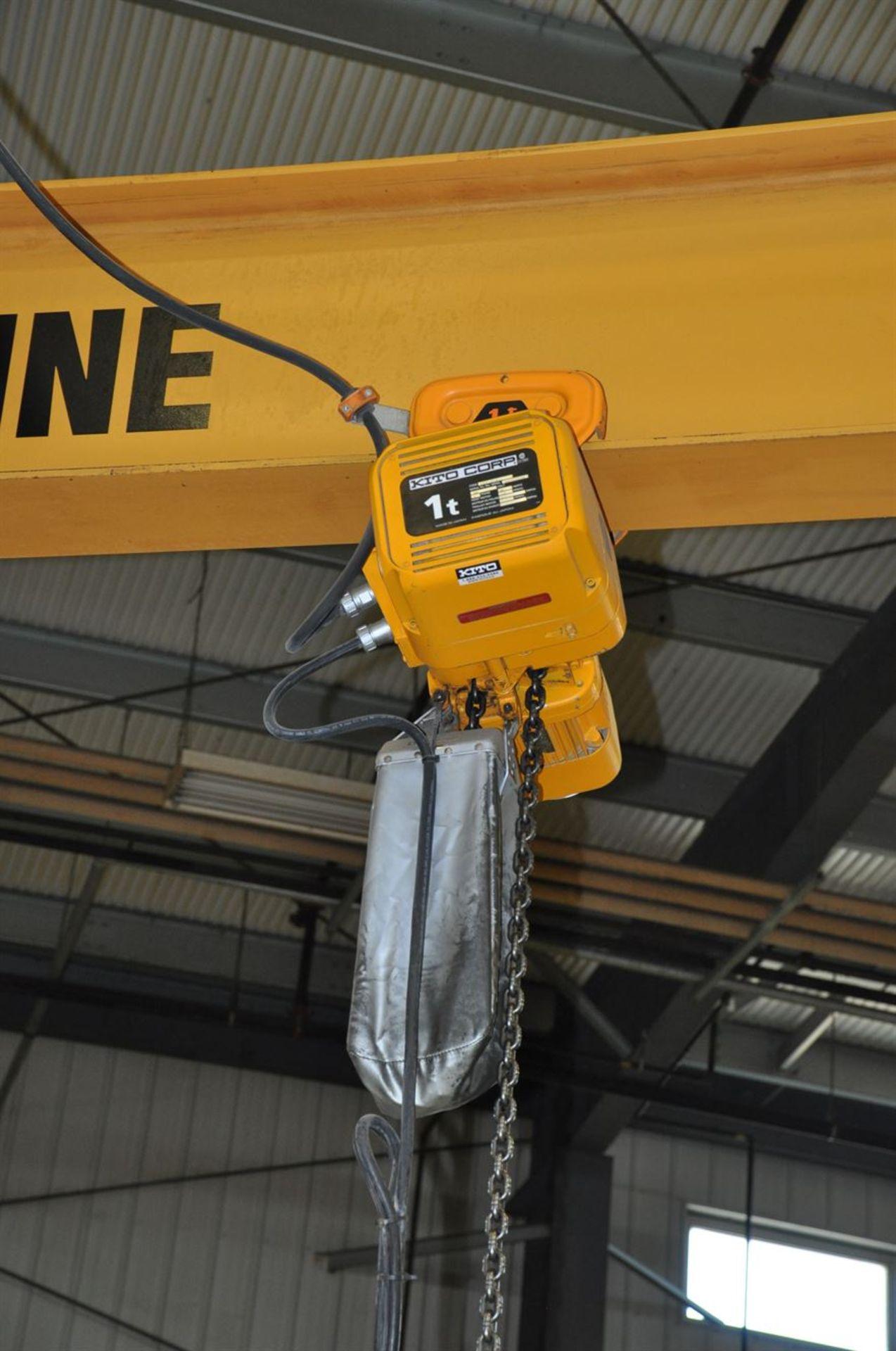 TEKO 1 Tonne Free Standing Jib Crane w/ KITO 1 Tonne Electric Chain Hoist - Image 2 of 2