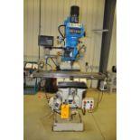 2012 SUMMIT VS-350B 3 hp Mill, s/n 8052, w/ 3 Axis Power Table, 50-4200 Vari-Speed RPM, NEWALL DP700