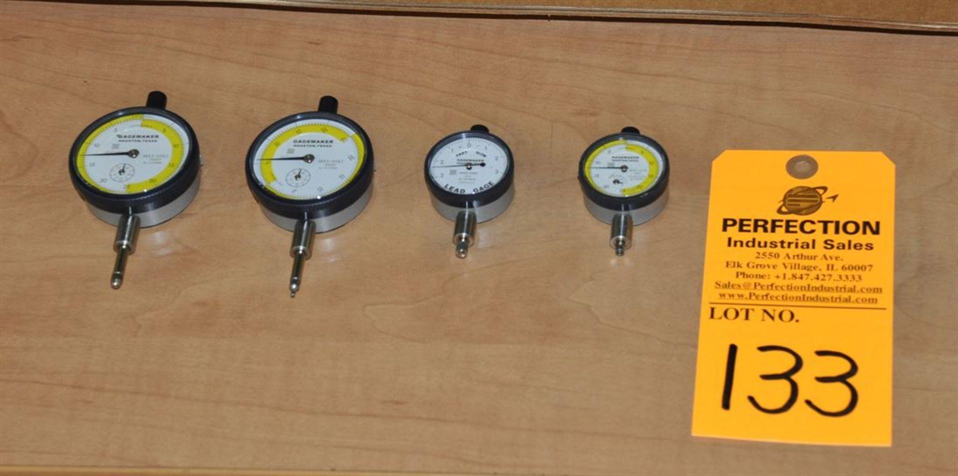(4) GageMaker assorted dial indicators