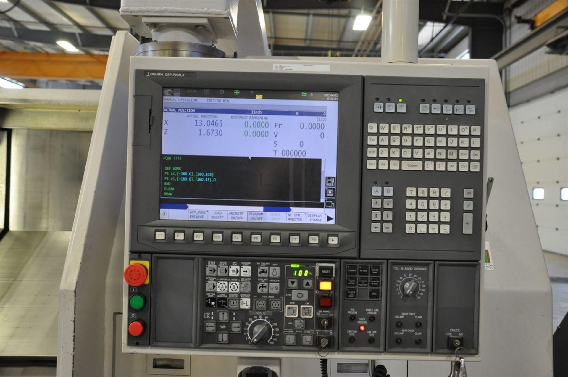 "2012 OKUMA LB35 II Turning Centers, s/n 163796, w/ OSP-P200L Control, 7"" Bore, SCHUNK 600 mm 4 Jaw - Image 6 of 11"