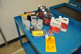 Assorted stencil ink, rollers and pads