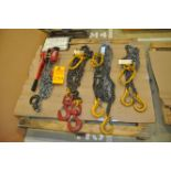 Assorted lifting Chains and Lever Hoist