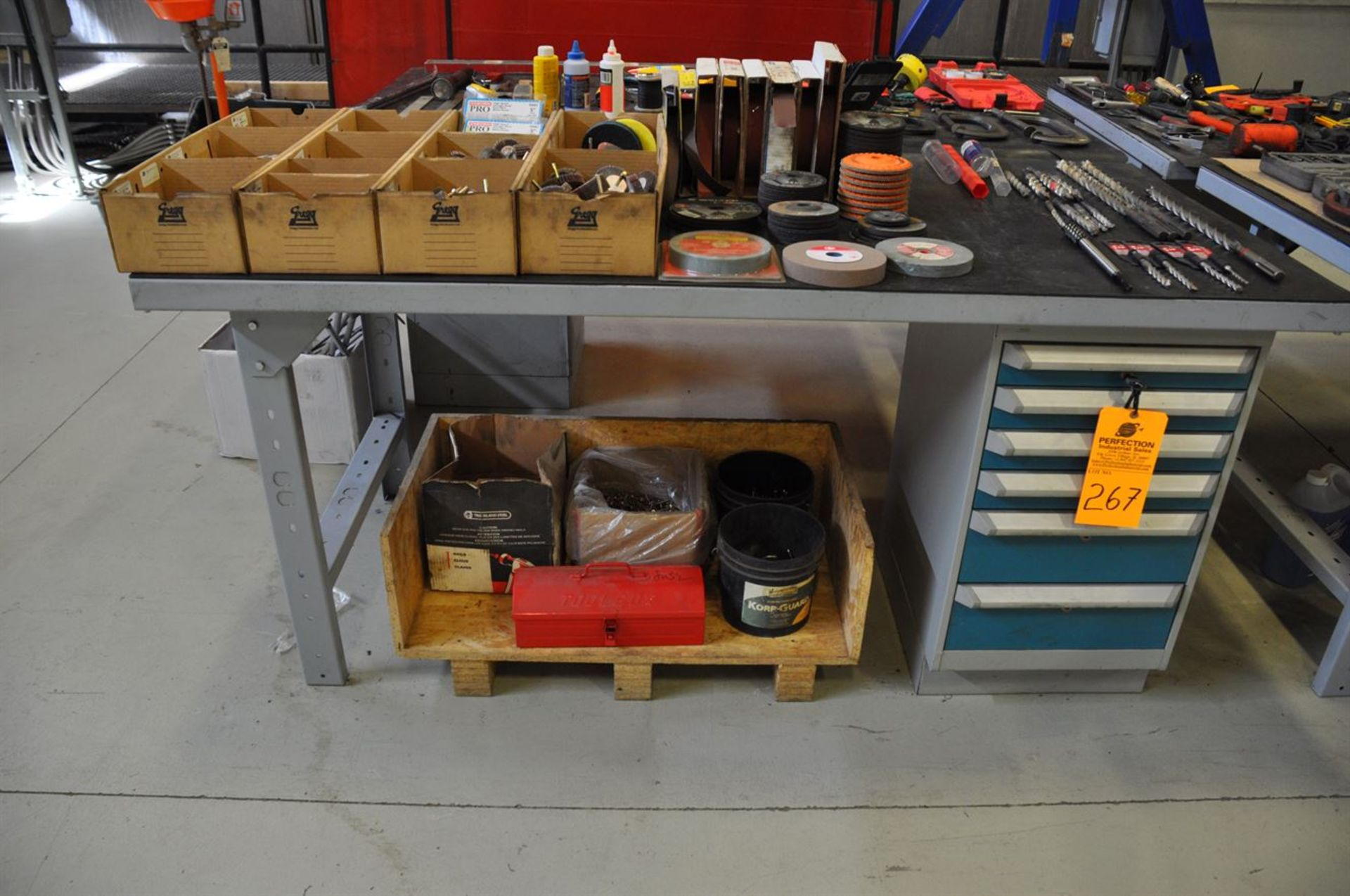 """Kleton Work bench, 36""""x72"""", 6 drawer w/ lock and keys (No Contents)"""