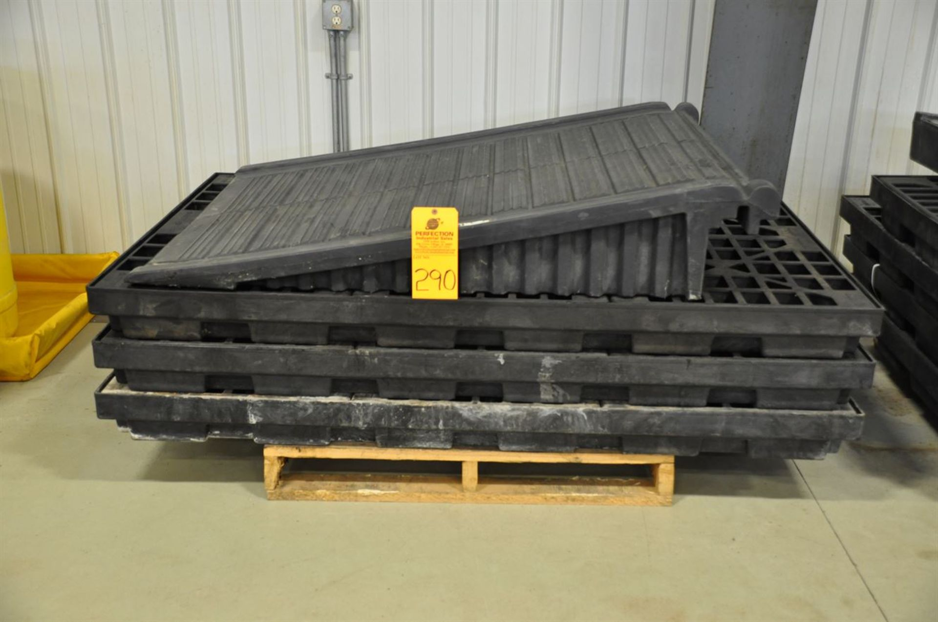 (3) Spill Containment Pallets, for 6 drums